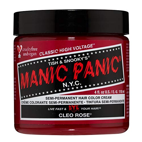 Manic Panic Cleo Rose Hair Dye - Classic High Voltage - Semi-Permanent Hair Color - Bright, Warm Magenta Pink Shade with Rosy Tones – Vegan, PPD & Ammonia-Free - For Coloring Hair on Women & Men