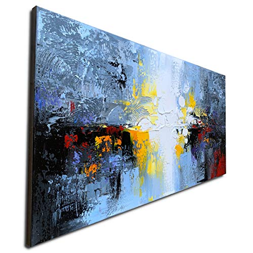 Large Hand Painted Textured 3D Oil Painting on Canvas Big Abstract Wall Art Landscape Artwork