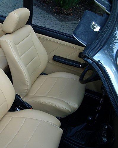 seatcovers by k-maniac Sitzbezüge Golf 4 Cabrio Vordersitze Rückbank Sitzbezug Ledersitze beige