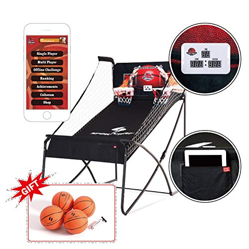 Buy Cheap Sportcraft Online App+ Electronic Basketball Double Hoop Shot Arcade, Heavy Duty 1 1/4 Tu...