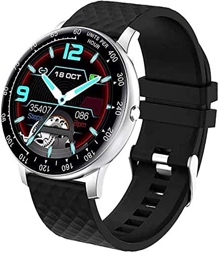 MHPO Moda reloj inteligente fitness tracker ritmo cardíaco presión arterial monitor ip68 impermeable bluetooth actividad tracker pulsera inteligente-negro