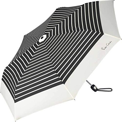 Pierre Cardin Taschenschirm Easymatic Slimline Black & White White Border