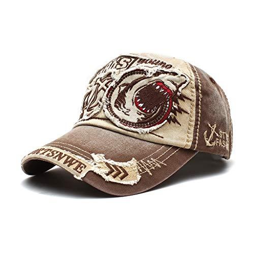 Gorra de béisbol Bordada con Letras Bordadas de Sombrero de Primavera y Verano para Mujer