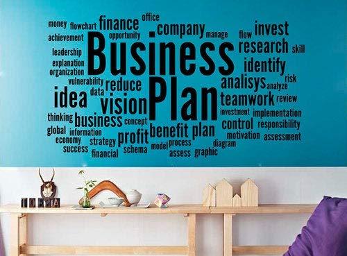 Business Plan Word Cloud Muursticker Werk Succes Opstarten Motivationele Vinyl Sticker Finance Inspirationele Print Kunst Thuis Office Decor 20asl