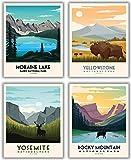 National Parks Vintage Poster & Drucke, 4 Stück (27,9 x