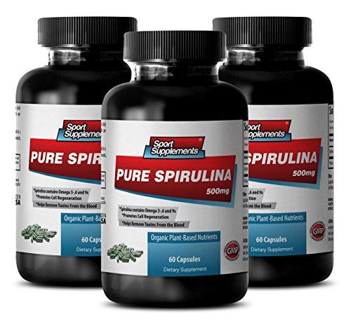 Heart Supplements Best Seller - Pure SPIRULINA 500mg - Supplement Vitamins for Women - 3 Bottles 180 Tablets