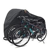 Ohuhu Funda Bicicleta, Nylón 210T 200 x 110 x 90 cm Anti Polvo Resistente al Agua a Prueba de UV Cubierta Bicicleta, Puede acomodar Dos Bicicleta de Montaña y Bicicleta de Carretera
