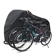 Ohuhu Bike Cover, 210T Extra Heavy Duty Waterproof Bicycle Covers for 2 Bike outside storage/Bike St...