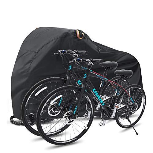 Ohuhu Fahrradgarage, Fahrradabdeckung Wasserdicht 210T Nylon-Gewebe Hochwertige Fahrradgarage Plane Wasserfest 200 x 110 x 90 cm Fahrrad schutzhülle mit Beutel