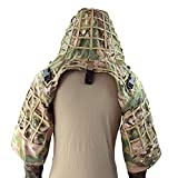 LytHarvest Sniper Ghillie Suit Foundation, Ripstop, Camouflage Tactical Ghillie Hood (CP Multicam)