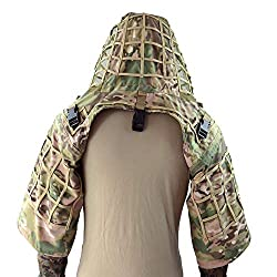 top 10 ghillie suit hood LytHarvest Ghillie Suit Foundation, Ripstop, Camouflage Tactical Ghillie Hood (CP Multicam)