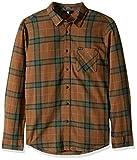 Volcom Caden Plaid L/S Camisa de Manga Larga, Hombre, Marrón (Mud), M