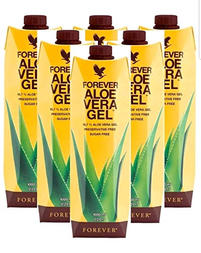 6 pack Aloe Vera Gel Drink immune system and Supports healthy digestion New