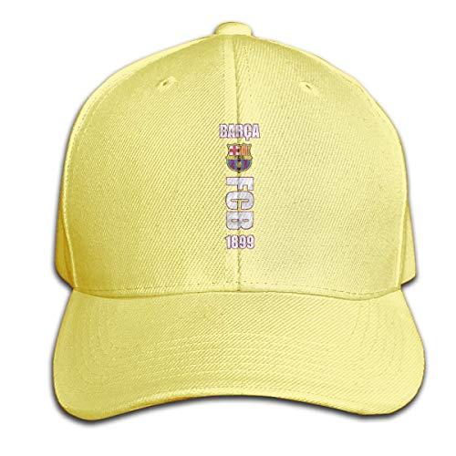 once Unisex Design Print Strapback Cap FC Barcelona Side Logo Breathable Baseball Cap Sombreros y Gorras