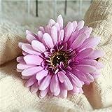 Flores Artificial Flores Artificiales Gerbera Boda Mariage Flor Falsa Fiesta Decoración del Hogar Decoración De Jardín Flor Artificial Púrpura