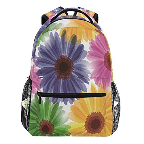 Oarencol Rucksäcke für Damen, Mädchen, Herren, Jungen, Wasserfarben, Sonnenblumen, Blumen, Kunst, Schulbuch, Reisen, College
