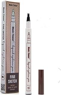 comprar comparacion Tattoo Liquid Eyebrow Pencil con cuatro puntas de tenedor Impermeable y duradero Lápiz de cejas Ink Sketch Eyebrow Pen par...