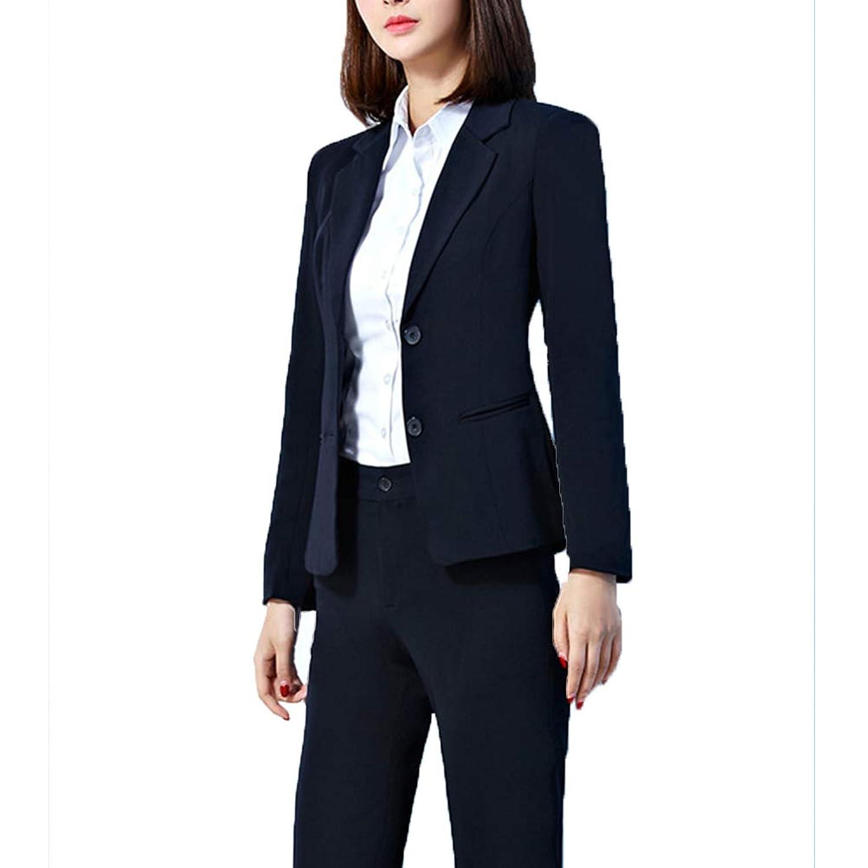 [美しいです]レディース スーツ 洋服 二点セット ブレザー 三点セット 無地 気質 オフィス 通勤 就活 面接 ビジネス ブレザー