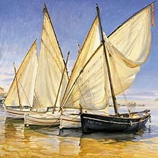 Posterazzi White Sails II Poster Print by Jaume Laporta, (24 x 24)
