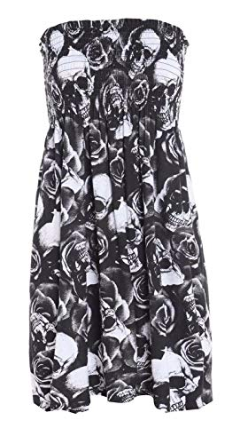 asfashion online Womens Bloemen Mini Jurk Dames Sheering Bandeau Boobtube Strapless Top 8-20