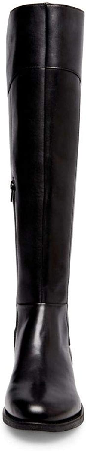 Steve Madden Womens Marianne Leather Almond Toe Knee High Riding Boots