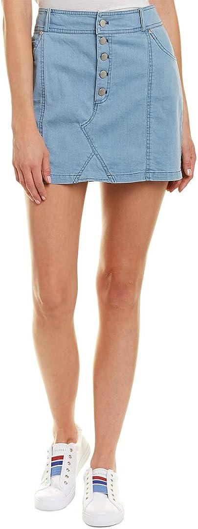 Jack by BB Dakota Women's Kesha Washed Chambray Mini Skirt