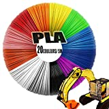 Filament PLA pour 3D Pen, 1.75mm Précision Dimensionnelle +/- 0,02 mm Matériaux d'impression 10/20/ 26 Couleurs à Option PLA de filament de stylo 3D Aucune Odeur, Longueur 3m/ 5m chaque couleur
