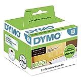 Dymo LabelWriter, etiquetas de dirección autoadhesivas, 36x89mm (rollo de 260), impresión negra sobre fondo transparente, S0722410