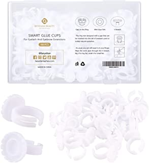 BEYELIAN Smart Glue Cups Fanning Cup Lash Glue Holder for Eyelash Extensions Two Methods of Use 100 PCS Professional Use P...