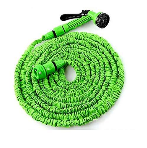 BYCDD Uitbreidbare tuinslang, met aansluitstukken, lekt niet, 7 functies, tuinslang, 1/2 inch, duurzame latexkern voor het gieten/wassen 25FT/7.5M groen
