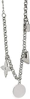 Charm Titanium Steel Jewelry Pink Gold Color V Letter Lock Women's Chain Bracelet