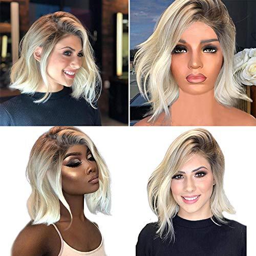 Coloré(TM) Femme Style Naturel Perruque Synthétique Résistant à la Chaleur Noir Blond Long Cheveux Bouclé