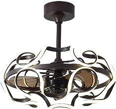 Staande ventilator, 36 W led-muziek-plafondventilator met licht en afstandsbediening, moderne ventilatorkroonluchter met b...