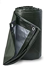 ZWXXQ Lona Impermeable,Lona de PVC Lona de Protección de Tejido Impermeable Aislamiento de Alta Densidad protección UV Lona de protección Prémium en Diferentes tamaños con Ojales,A,6×5m