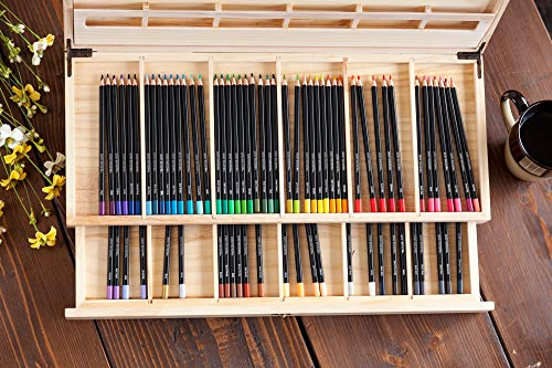 Crayola Colored Pencils with Wooden Pencil Case, Art Set, Gift, 72ct