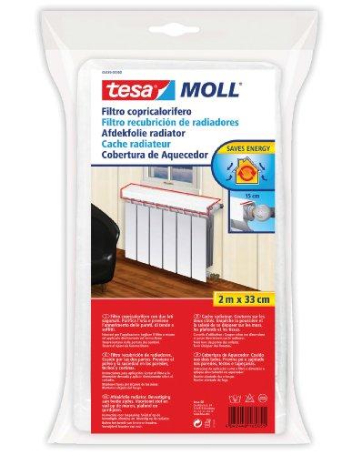 Tesa 05439-00000-00 Abdeckung für Heizkörper, gesäumter Rand, Weiß