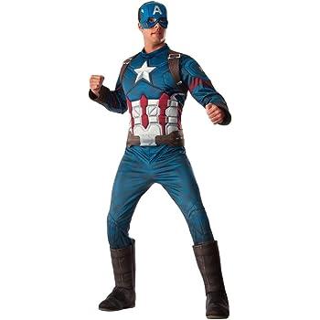 Horror-Shop traje muscular capitán América 3D XL: Amazon.es ...