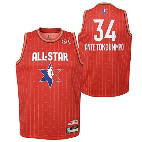 Youth 2020 NBA All-Star Game Giannis Antetokounmpo Red Swingman Jersey Youth Sizes (Youth Small 8)