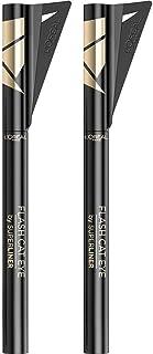 L'Oréal Paris Eyeliner in Penna Superliner Flash Cat Eye, Formula Waterproof a Lunga Tenuta, Con Ala Stencil, Nero, Confez...