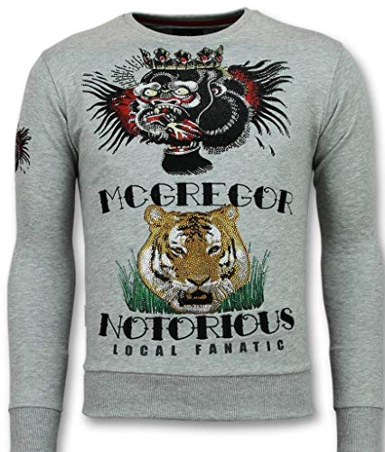 Mcgregor Tattoo Trui - Notorious Heren Sweater - Grijs