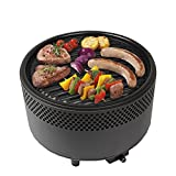 Kbabe Portable <span class='highlight'>BBQ</span> with Fan for Fast Heat Outdoor Indoor Tabletop Small <span class='highlight'>Charcoal</span> Barbecue Non Stick Round <span class='highlight'>BBQ</span> Grill for Camping Picnics Backyards (Black)