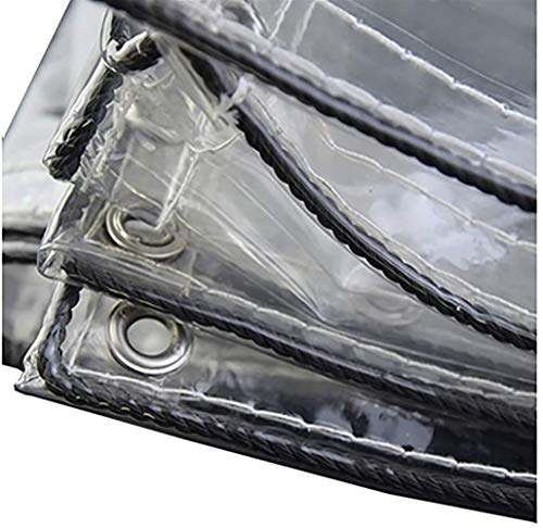 Lonas GQIANG Lona, PVC Impermeable Paño De Plástico Transparente, Cubierta De Piso Al Aire Libre Cubierta De Piscina Cobertizo De Tela Suculentas De Jardín (Size : 1.9mx2.1m)