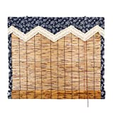 Persianas enrollables de bambú, persianas de caña, aptas para uso en interiores y exteriores, cortinas opacas, cortinas plisadas impermeables y transpirables, 150x200 cm / 59x78,5 pulgada(Size:1x3m)