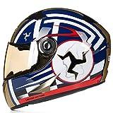 Adulto Full Face Classic Moto Kart Casco Professionale Anti Fog Lens Off Strada-Sistema protettivo colorato Casco anti Crash Downhill Motocross Caschi