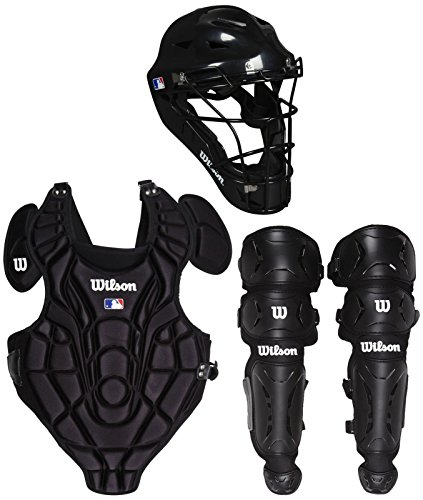 Wilson WTA368400SM Youth EZ Gear Catcher's Kit, Small/Medium/ 5-7 Years, Black