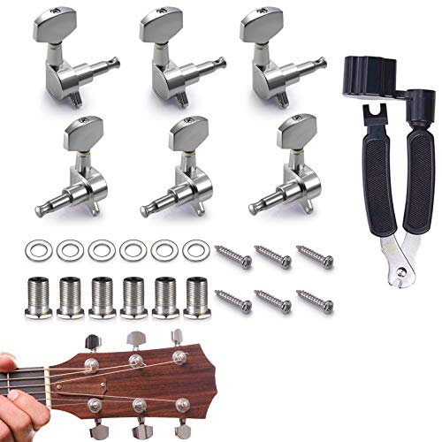 gotyou 6 Piezas 3L3R Clavijas de Afinación de Guitarra, Cerrado Sintonizadores de...