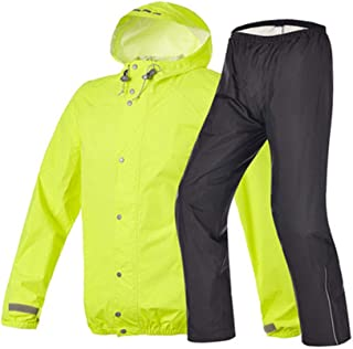 Waterproof clothing Raincoat Rain Pants Suit Ultra-thin Breathable Rainwear Outdoor Riding Waterproof Clothes Pants, Fluor...