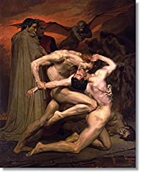 Dante and Virgil in Hell by William Bouguereau Hand Made Reproduction on Canvas