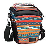USA Gear SLR Camera Case Bag (Southwest) with Top Loading Accessibility , Adjustable Shoulder Sling , Padded Handle , Weather Resistant Bottom - Comfortable, Durable and Light Weight for Travel
