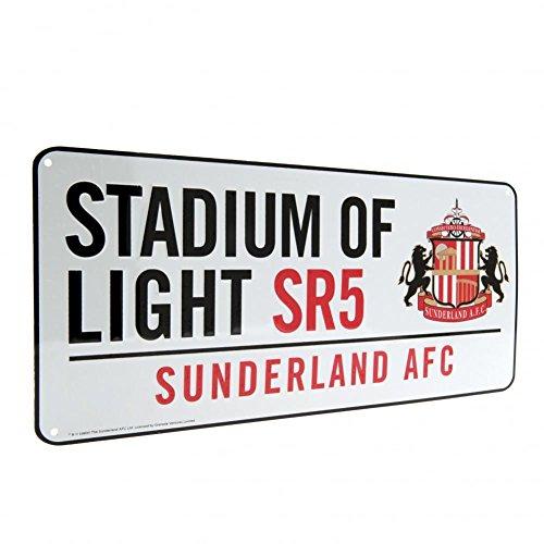 Club Licensed Sunderland Street Sign (40cm x 18cm appox) - One Size